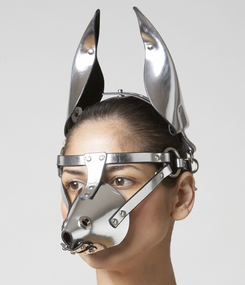 ILYA FLEET BONDAGE DOG MASK SILVER_D